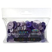 Buttons Galore CB110 Color Blend Buttons, 3-Ounce, Plum Pudding, 3 Shades of Purple