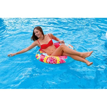 Intex Groovy Color Inflatable Tropical Flower Transparent Tube (2 Pack) 58263EP - image 5 de 7