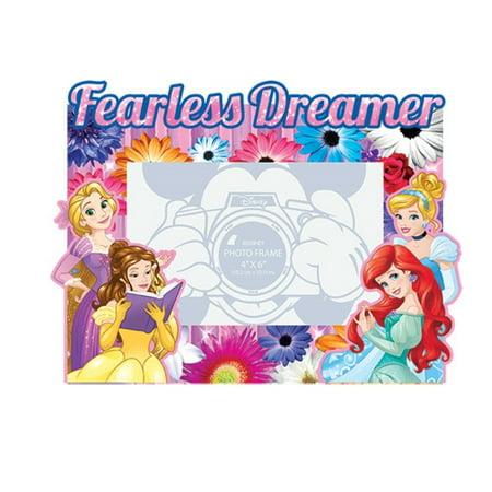 Fearless Dreamer Princess Rapunzel Belle Ariel Cinderella 4x6