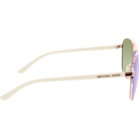7e72e09ca8 Michael Kors Women s Mirrored Hvar MK5007-104525-59 Rose Gold Aviator  Sunglasses - image ...
