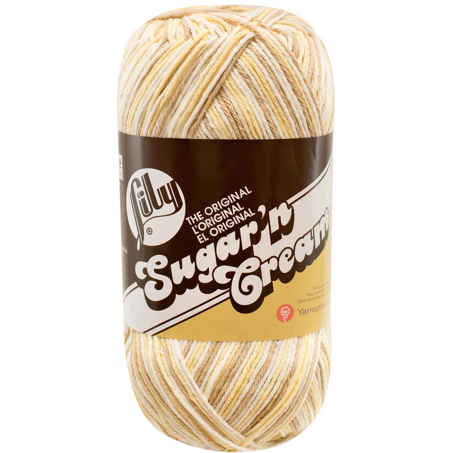 Spinrite Sugarn Cream Yarn, Ombres Big Ball, Queen Anns Lace Multi-Colored