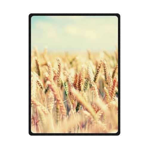 CADecor Beautiful Color Wheat Fleece Blanket Throws 58x80 inches