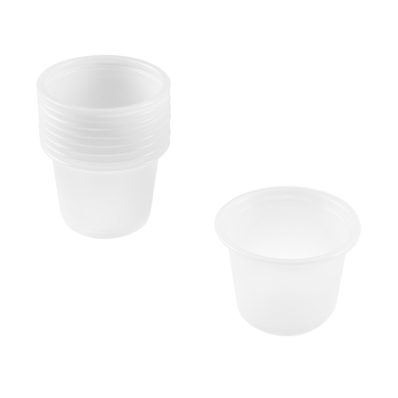 5c6d73f3d3f Mini Clear Plastic Jello Shot & Condiment Sauce Disposable Cups with Lids  (1 Ounce, 125 Pack) by Super Z Outlet