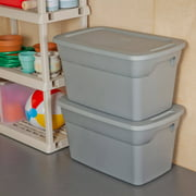 Sterilite 30 Gallon Tote Box- Steel (Available in Case of 6 or Single Unit)