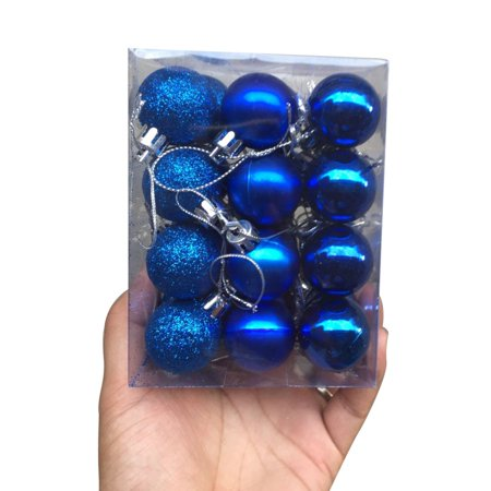 24 Pack Multicolor Christmas Balls Ornaments for Xmas Tree - Shatterproof Christmas Tree Decorations Hanging Ball for Holiday Wedding Party ()