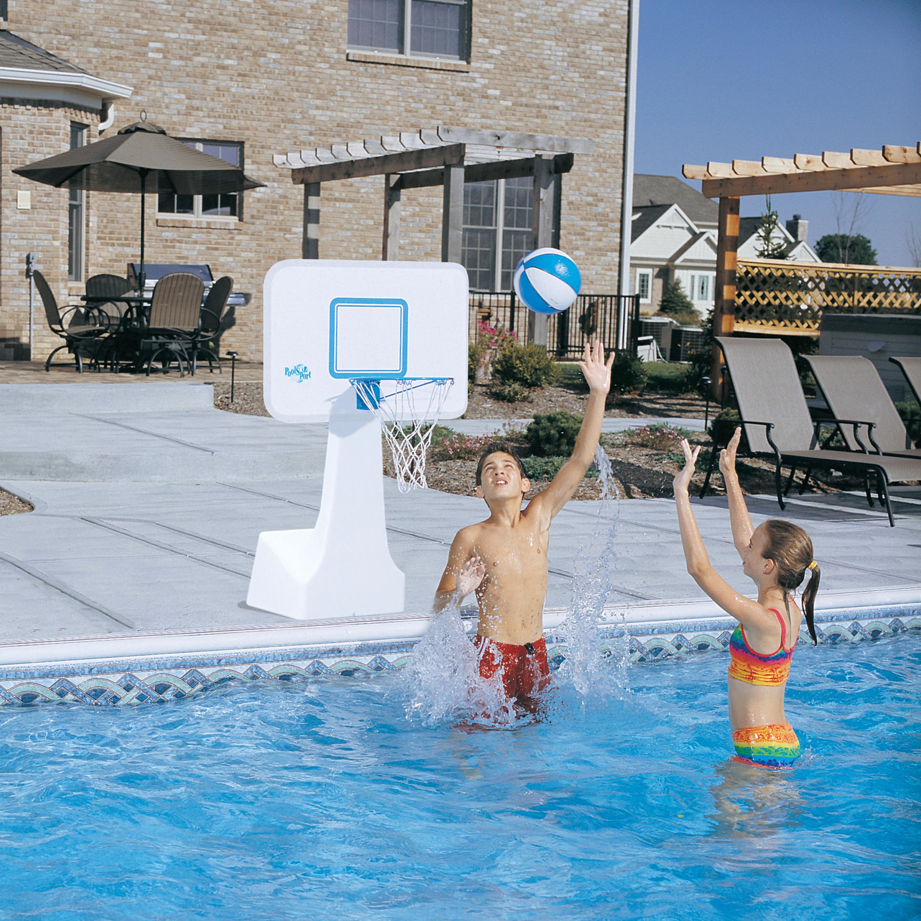 Dunn Rite PoolSport Portable Pool Basketball/Volleyball Set