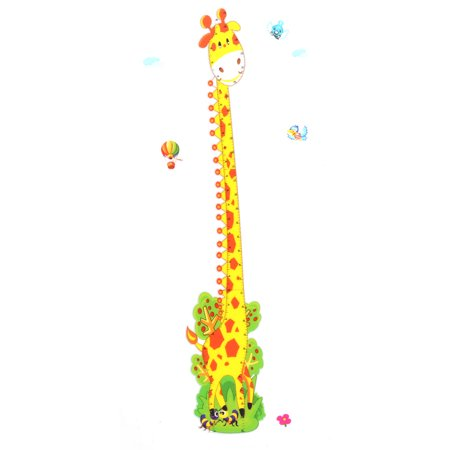 Growth Chart Giraffe Printed DIY Wallpaper Wall Sticker Decal (World Growth Chart)