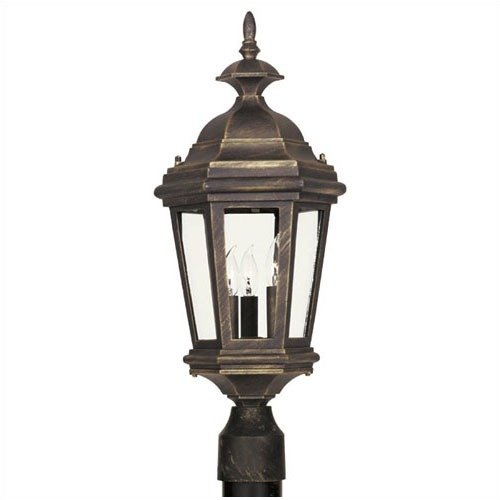 Kenroy Home Estate  Post Lantern in Antique Patina