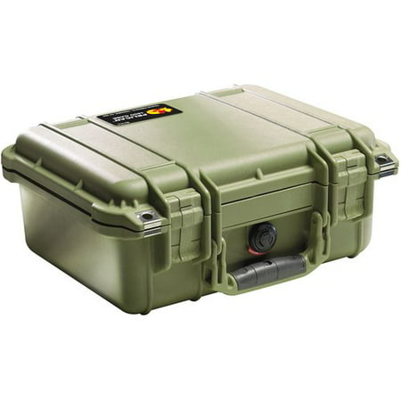 Pelican Products Equipment Case with Foam: 11.5  x 13.38  x 6  PX1419FeaturesEquipment Case with foamWatertight, crushproof and dust proofEasy open double throw latchesOpen cell core with solid wall design - strong, light weightO-ring seal automatic pressure equalization valveStainless steel hardwareInterior Material: FoamWater Resistant: YesCountry of Manufacture: United States DimensionsExterior dimensions: 11.5  H x 13.38  W x 6  DInterior dimensions: 8.88  H x 11.5  W x 5.13  DOverall Height - Top to Bottom: 11.5 Overall Width - Side to Side: 13.38 Overall Depth - Front to Back: 6 Overall Product Weight: 4.41 lbs