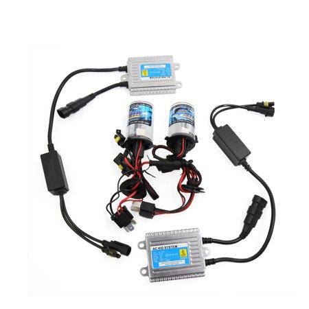 2Pcs 12V 35W 8000K H4 HID High Low Beam Bulbs Bi-Xenon Conversion Kit for Car
