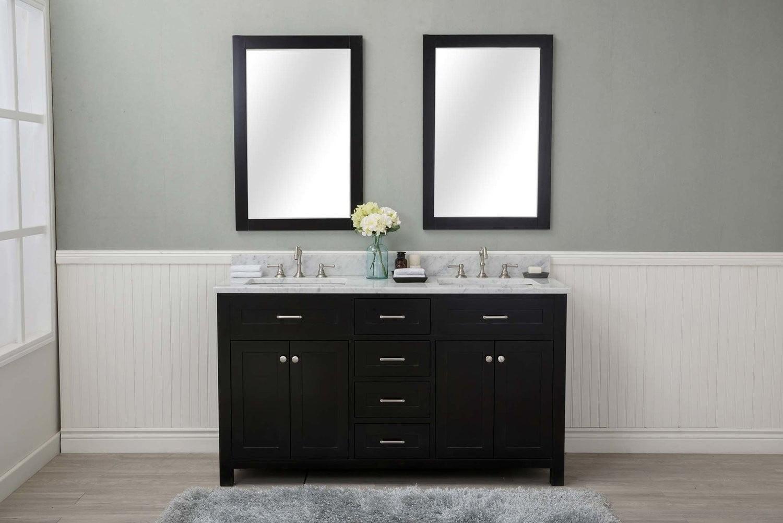 Cabinet Mania Espresso Shaker 60 Bathroom 4 Drawers Vanity W Marble Top Walmart Com Walmart Com