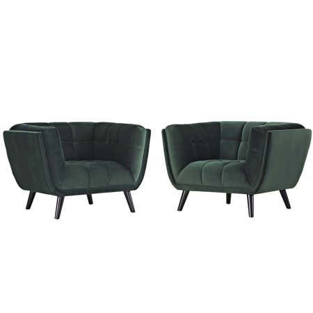 Modern Unique Accent Chairs.Modern Contemporary Urban Design Living Room Lounge Club Lobby Armchair Accent Chair Set Of Two Velvet Fabric Green