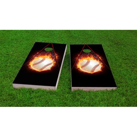 Baseball Bean Bag Board - Custom Cornhole Boards Baseball Cornhole Game Set