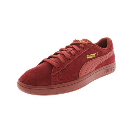 sports shoes dac9f 82e5c Puma Smash V2 Suede Fashion Sneaker - 8.5M - Pomegranate / Pomegranate /  Pomegranate