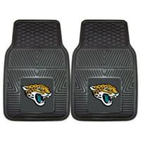 """Jacksonville Jaguars 2-pc Vinyl Car Mats 17""""x27"""""""