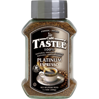 Cafe Tastle Platinum Espresso Freeze-Dried Instant Coffee, 7.14 oz