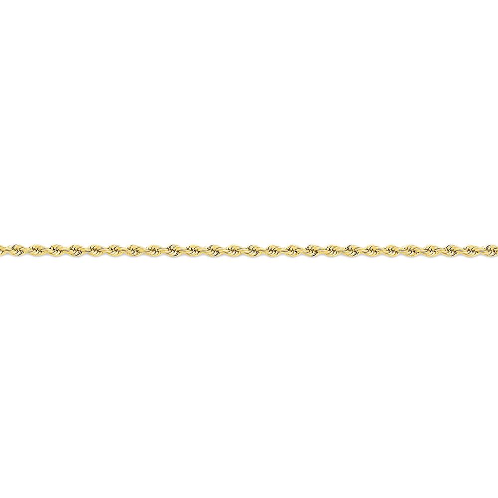 14K Yellow Gold 2.25mm Handmade Regular Rope Chain Necklace