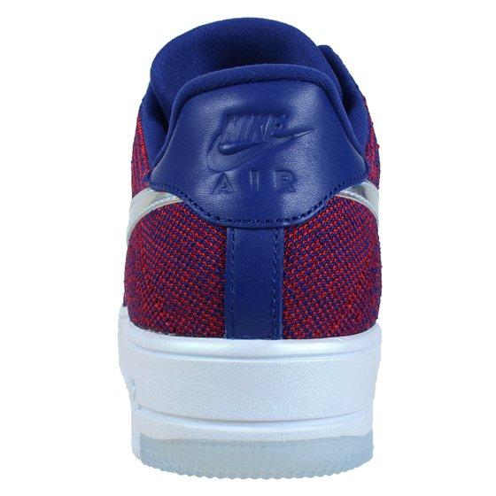 watch 67995 b6bfc Nike - NIKE AIR FORCE 1 ULTRA FLYKNIT LOW PRM GYM RED DEEP ROYAL BLUE WHITE  826577 601 - Walmart.com