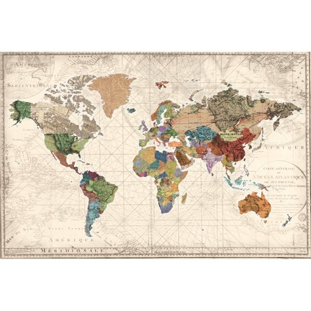 portfolio canvas decor world map of maps by studio voltaire wrapped and stretched canvas wall. Black Bedroom Furniture Sets. Home Design Ideas