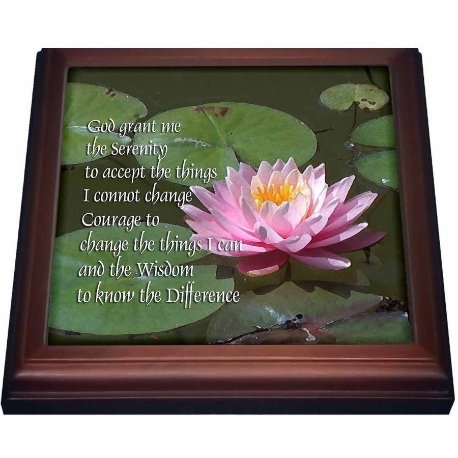 3dRose Serenity Prayer, Trivet with Ceramic Tile, 8 by 8-inch