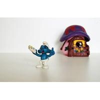 Canvas Print Blue Decoration Toys Figure Smurf Collect Smurfs Stretched Canvas 10 x 14