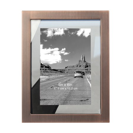 Better Homes & Gardens Antique Copper Gallery Profile Floating Photo Frame ()
