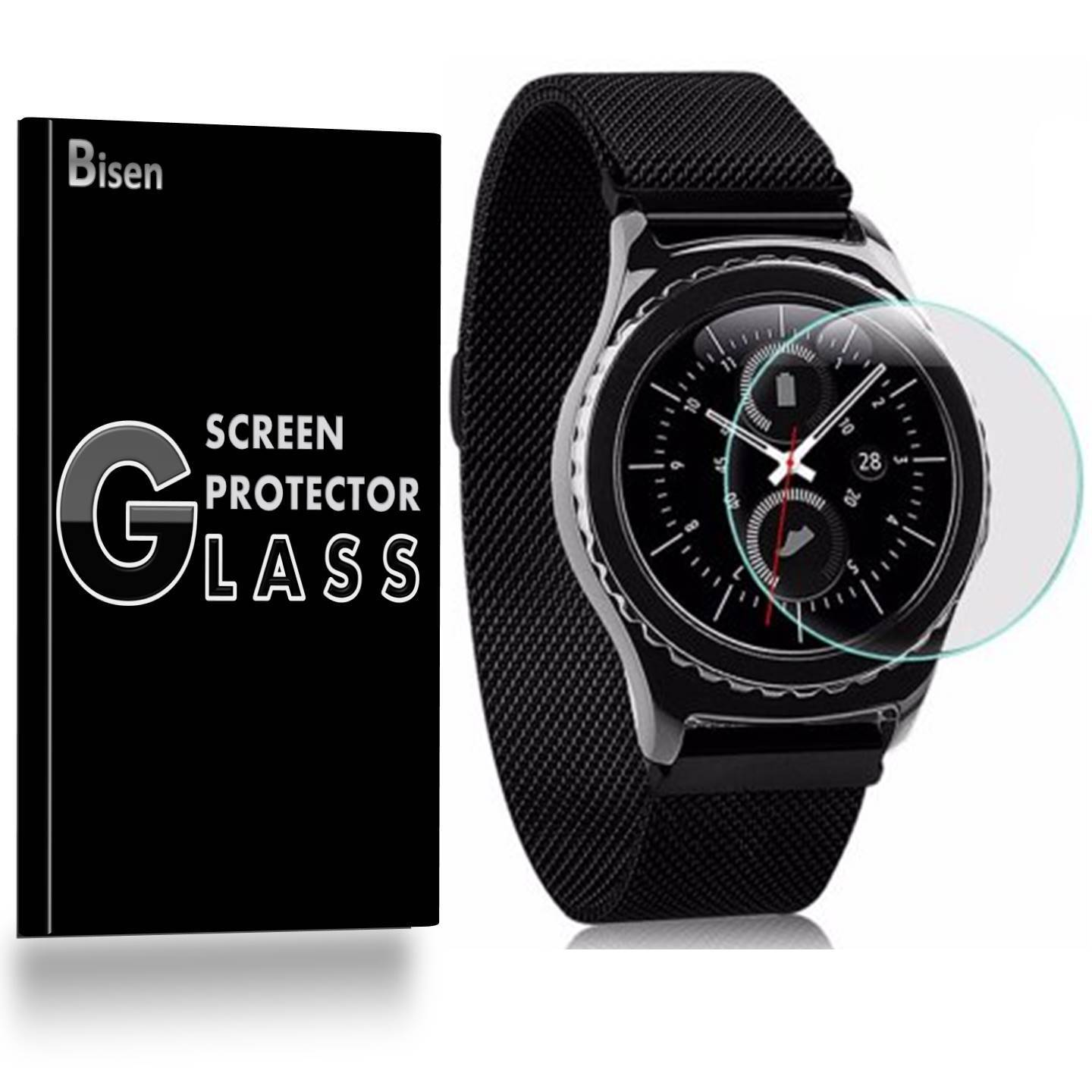 Samsung Gear S3 Classic [3-Pack BISEN] 9H Tempered Glass Screen Protector, Anti-Scratch, Anti-Shock, Shatterproof, Bubble Free