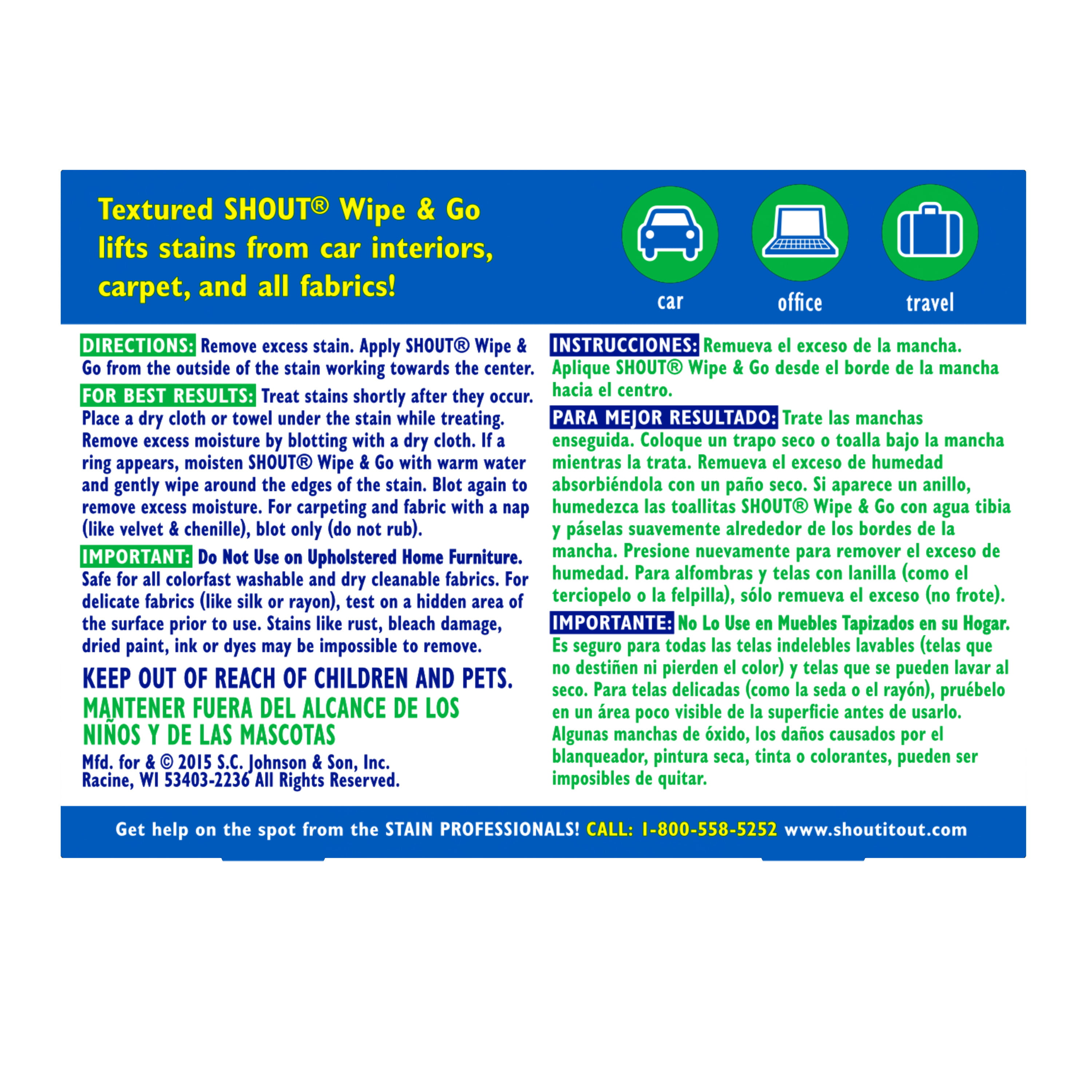 Pack Of 12 Shout Wipes 12-Count