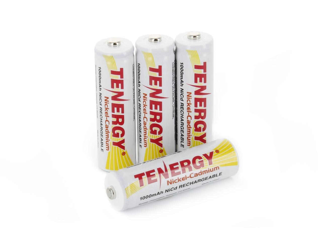 Tenergy AA Rechargeable Battery NiCd 1000mAh 1.2V Battery Pack for Solar Lights, Garden Lights, Remotes, Mice, 12-Pack by Tenergy