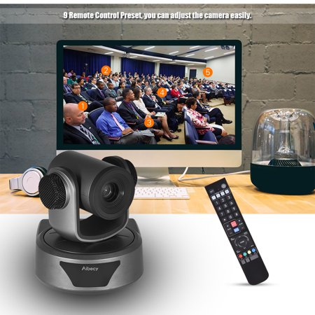 Aibecy HD Video Conference Cam Camera Full HD 1080P Auto Focus 20X Optical Zoom with 3.0 USB Cable Remote Control for Business Live Meeting Recording Training - image 4 de 7