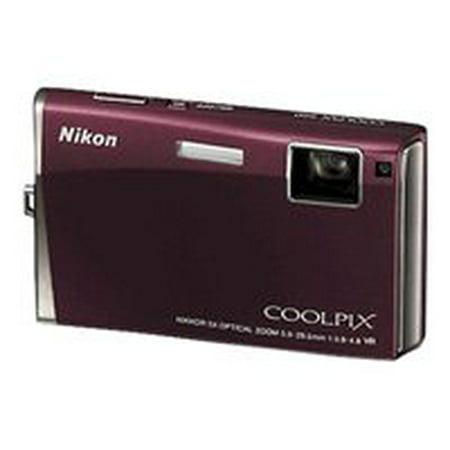 Nikon Coolpix S60 - Digital camera - compact - 10.0 MP - 5 x optical zoom - burgundy (Nikon Camera 100)