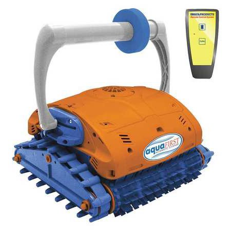 Aquafirst Turbo Robotic Wall Climber Cleaner w/ Remote Control for In Ground (Pool Control Systems)