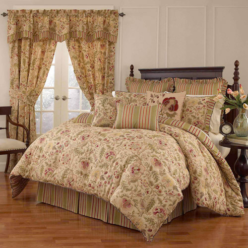 Waverly Imperial Dress 4-Piece Bedding Comforter Set, Antique