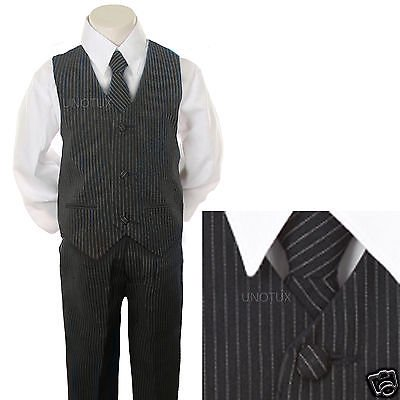 6f3c196ba2e45 New Baby,Toddler & Boy Navy Pin Stripe Formal Vest Suit size: 2T 3T 4T 5 6 7