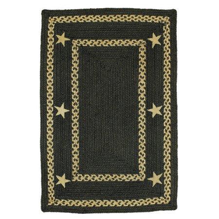 homespice decor texas star jute braided black area rug. Black Bedroom Furniture Sets. Home Design Ideas