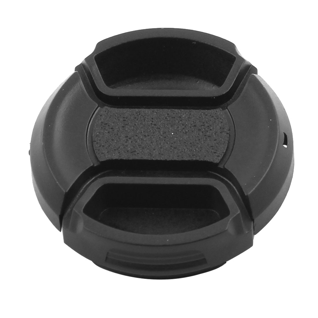 Plastic Front Snap Digital Camera Clip-on Lens Cap Cover Black 37mm Dia w Cord