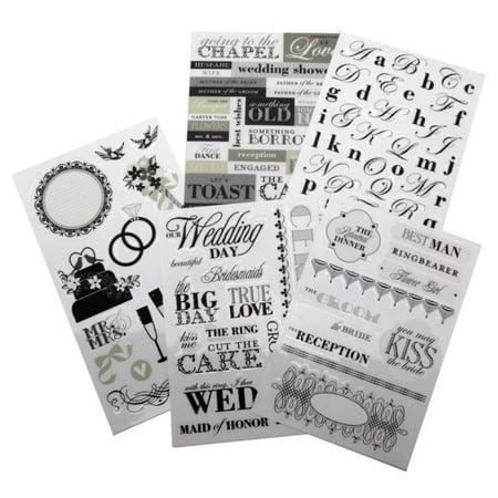 Black And White Wedding Ideas (Me & My Big Ideas Glitter Sticker Flip Value Pack, Black and White)