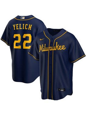 Christian Yelich Milwaukee Brewers Nike Alternate 2020 Replica Player Jersey - Navy
