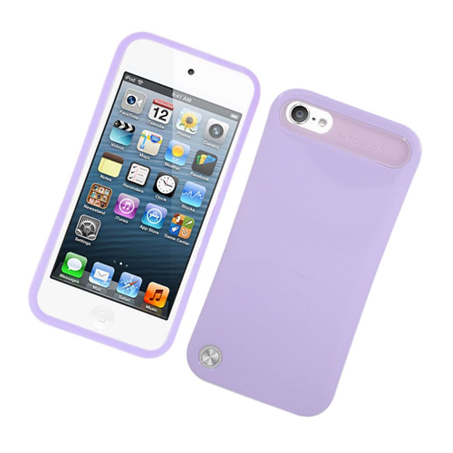 iPod Touch 6th generation case, iPod Touch 5th generation case, by Insten Night Glow Jelly Hard Plastic/Soft Silicone Case Cover For Apple iPod Touch 6th / 5th Gen, Purple