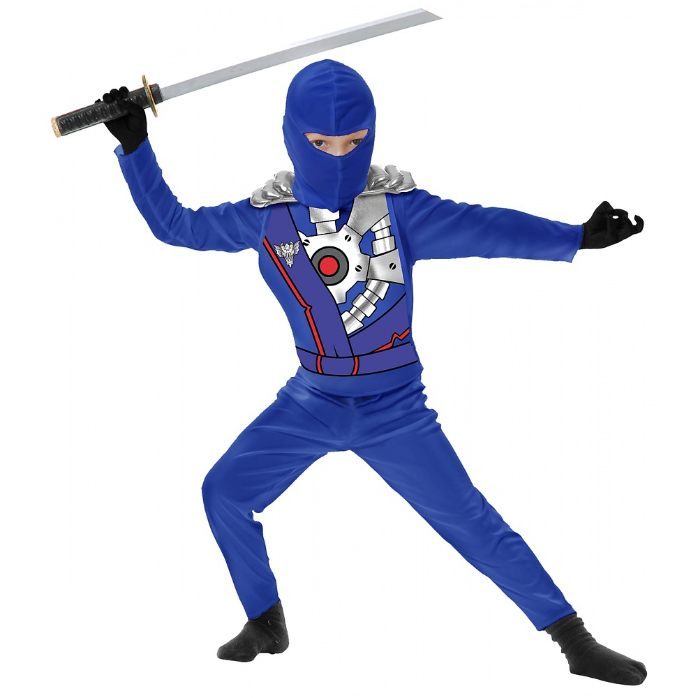 Ninja Avengers Series 4 with Armor Child Costume Black - Small