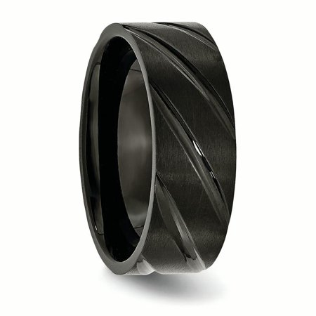 Titanium Swirl Design Black Plated 8mm Brushed/ Wedding Ring Band Size 10.00 Fancy Fashion Jewelry Gifts For Women For Her - image 7 de 10