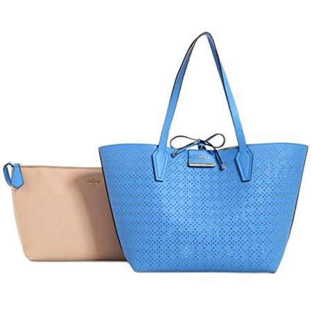 GUESS Women's Bobbi Inside-Out Tote Set, Blueberry Nude