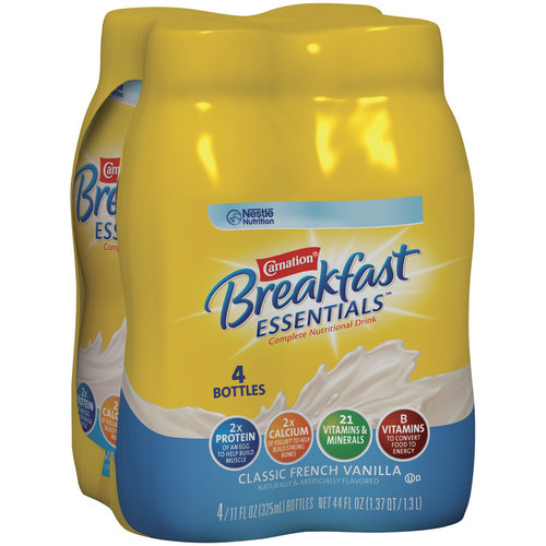 Carnation Breakfast Essentials Classic French Vanilla Nutritional Drink, 11 oz, 4pk