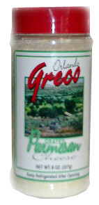 Grated Parmesan Cheese (OrlandoGreco) 8oz, plastic shaker by