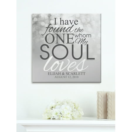 Personalized The One My Soul Loves Canvas, Available in 11