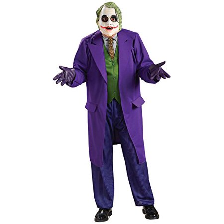 Batman The Dark Knight Deluxe The Joker Costume, Black/Purple, - Dark Knight Joker Costumes