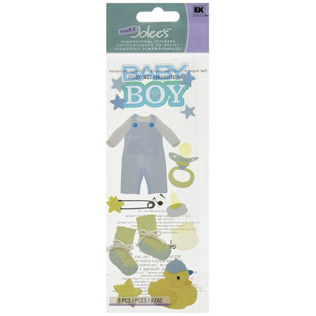 Dimensional Sticker, Baby Boy, From jolee's boutique la fleur collection By Jolee's Boutique