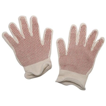 Condor  4A277 Men's XL White/Rust Cotton/Acrylic Hot Mill - Cotton Hot Mill Gloves