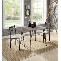 Jamilia Industrial 3-piece Dining Set