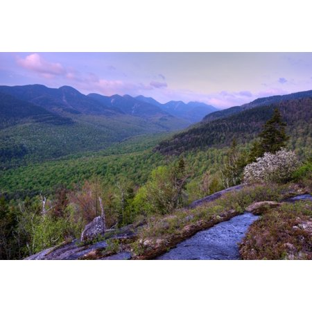 Great Range from First Brother Adirondack Park New York State USA Canvas Art - Panoramic Images (27 x